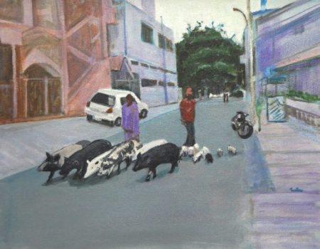 Artist:Usha ShantharamTitle: Family of Pig