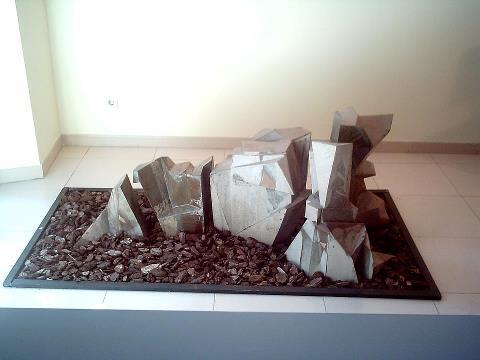 """Artist: Escultura Ceràmica Mercè PlaTitle: """"Montain"""" it is a sculpture of 5 modules."""