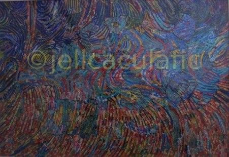 Artist: Jelica CulaficTitle: Feu d'artifice sur la Baie des Anges