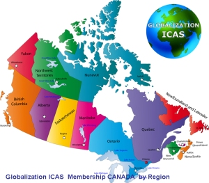 Canadal map with states