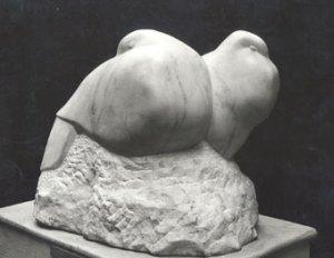 Artist: Barbara HepworthDove stone white marble 1927