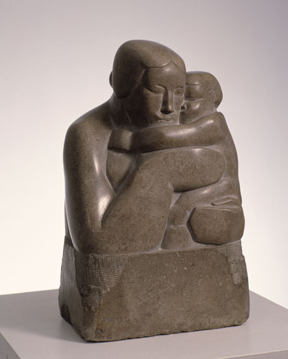 "Stonne Carving ""Mother and Child 1927"""