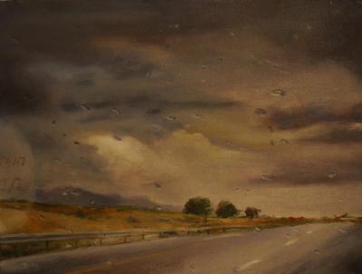 Artist: Vered Terry Title: Milky Way Medium oil, 80X100 2013
