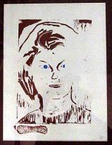 Artist: Edgar Plaute Artist: Why Me medium : Lino cut craft print