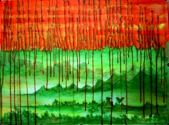 Artist: Usha Shanharam Title: Green Erath and Red Oil