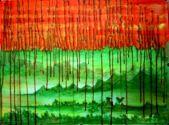 Artist: Usha Shanharam Title: Green Erath and Red Oil