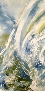 "Artist: Laara Williamsen Title: Element 1 Water Size: 18"" x 36"""