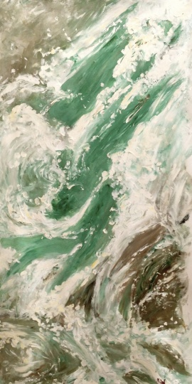 "Artist: Laara Williamsen Title: Element 12 WATER Size: 18"" x 36"""