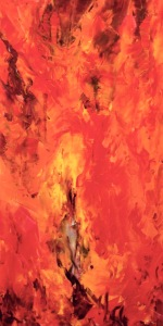 "Artist: Laara Williamsen Title: Element 2 FIRE Size: 18"" x 36"""