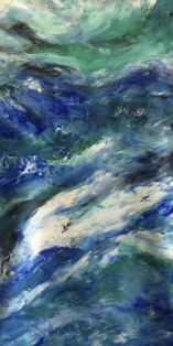 "Artist: Laara Williamsen Title: Element 8 WATER Size: 18"" x 36"""