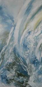"Artist: Laara Williamsen Title: Element 9 WATER Size: 24"" x 36"""