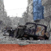 Artist: Lloyd Knowles Title: Tyranny homage to Homs series 1