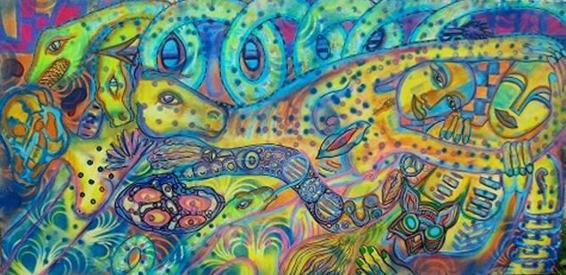 Artist: Anita Wexler Title: Love's embrace