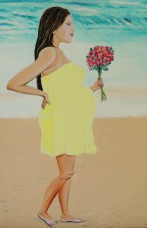 Artist: Martha De-Cunha-Maluf-Burgman Title: My Pregnancy and Loving Life