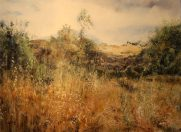 Artist: Vered Terry Title: Edge of a meadow with a terrace