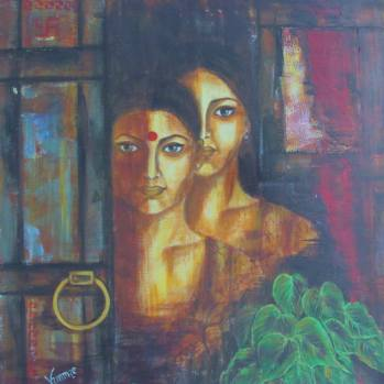 Artist: Dr Vimmie Manoj Title: Mother and Daughter