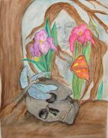 Artist: Michelle Thomann- Ramirez Title:The Death card