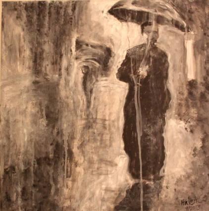 Artist: Mike Halem Title: Walking in the Rain