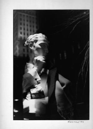 Artist: Mario Sostre Title: Window display mannequin in 5th Avenue