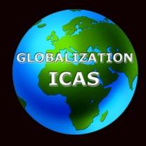 Globalization icas logo black