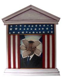 Artist: Pablo Hernandez Title: Obama's portrait