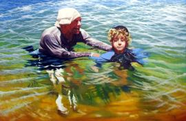 Artist: Stephen Kaldor Title: The Swimming Lesson