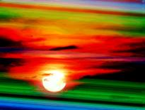 Digital art by Joseph Hare Title: Red sky sailors delight