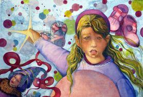 Artist: Alayne Abrahams Title: PINK MOON PRINCESS