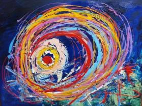 Artist: Romaine Kaufman Title: Vortex series of three painting 3/3