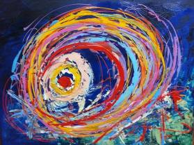 Artist: Romaine Kaufman Title: Vortex series of three painting 3/3