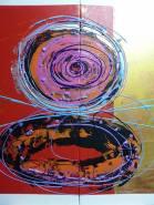 Artist: Romaine Kaufman Title: Vortex series of three painting 1/3