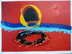 Artist: Romaine Kaufman Title: Vortex series of three painting 2/3