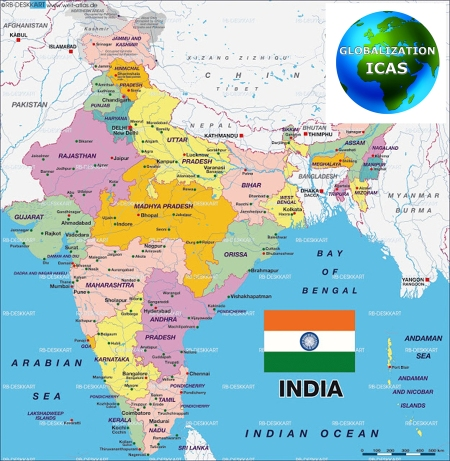 map india GICAS small
