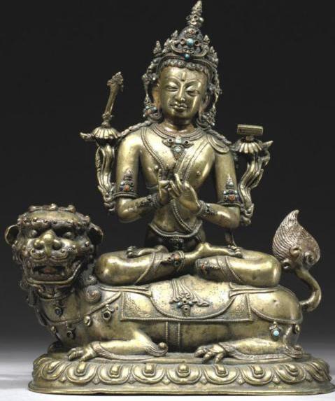 Manjushri Himalayan Buddhist Art 14th- 15th Century
