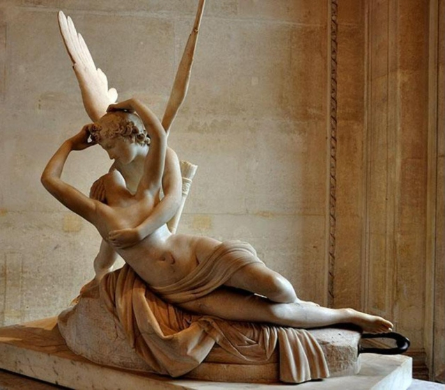 Neoclassical Kiss Antonio Canova Cupid Kiss2